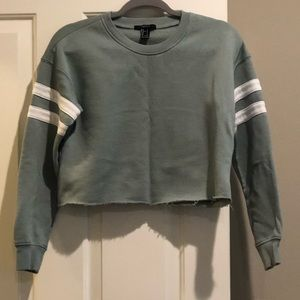 🆕Forever 21 Crop Sweatshirt with Frayed Edges